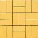 Тротуарная брусчатка 200*100*40мм желтая