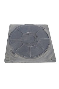 Люк полимерно-композитный легкий 450*450мм серый