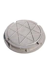 Люк полимерно-композитный легкий 460*60*25мм серый