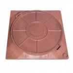 Люк полимерно-композитный легкий 450*450мм красный