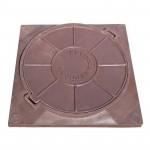 Люк полимерно-композитный легкий 450*450мм коричневый