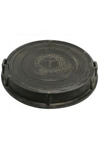 Люк полимерно-композитный тяжелый 800*120*80мм черный