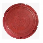 Люк полимерно-композитный легкий 730*60*25мм 3т красный