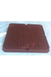 Люк полимерно-композитный легкий 680*680мм коричневый