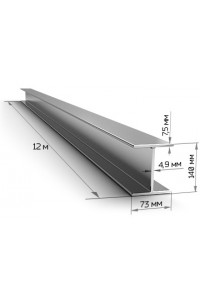 Балка стальная двутавровая 140мм