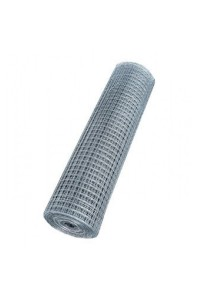 Сетка сварная 1*30м (ячейка 0.8*12.5*25мм) стальная оцинкованная