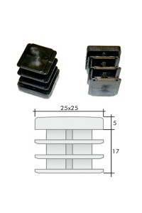 Заглушка для профильной трубы пластмассовая 25*25мм