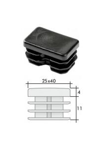 Заглушка для профильной трубы пластмассовая 25*40мм