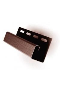 J-планка Ю-Пласт ПВХ кирпич коричневый 3.05м