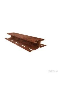 Н-планка Ю-Пласт кирпич коричневый 3.05м