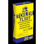 Шпаклевка цементная Toiler TL307 финишная белая (20кг)