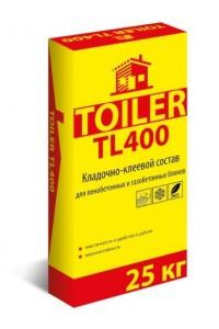 Кладочно-клеевой состав для блоков Toiler TL400 (25кг)