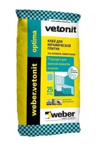 Клей для плитки Вебер Vetonit Optima (25кг)