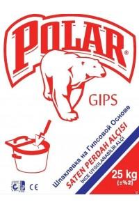 Шпатлевка гипсовая Polar Gips Saten финишная (25кг)