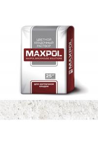 Кладочный раствор Maxpol, белый мрамор, 25 кг