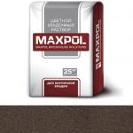 Кладочный раствор Maxpol, темно-коричневый, 25 кг