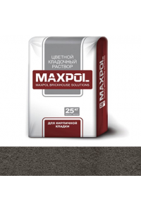 Кладочный раствор Maxpol, темно-серый, 25 кг