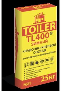 Кладочно-клеевой состав для газобетонных блоков Toiler TL400 зимний (25кг)