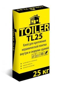 Клей для керамической плитки Toiler TL25 (25кг)