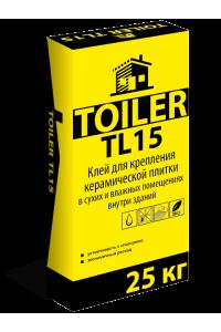 Клей для керамической плитки Toiler TL15 (25кг)