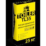Клей для керамической плитки и керамогранита  Toiler TL35 (25кг)