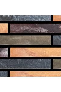 Кирпич Богандинский керамический Полтава Микс R-700, ригельный, облицовочный