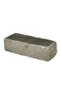 Кирпич Мегалит угловой серый скала 1НФ гиперпрессованный облицовочный (одинарный)
