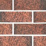 Кирпич Губский керамический Красный чёрный ангоб, 1НФ, облицовочный