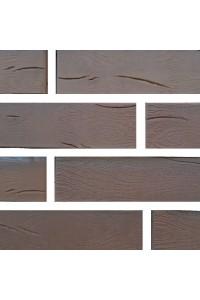 Кирпич Железногорский керамический Темно-коричневый дерево, 1НФ, облицовочный