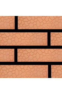 Кирпич Донской керамический красный панцирь черепахи 1НФ (одинарный) облицовочный