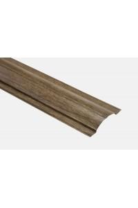 Металлический штакетник Баррера Вик коричневый прямоугольный