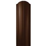 Металлический евроштакетник Вик, двусторонний, коричневый
