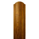 Металлический Евроштакетник Вик полукруглый, светлое дерево
