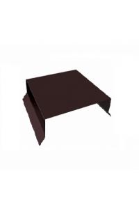 Парапет плоский 125*2000мм коричневый