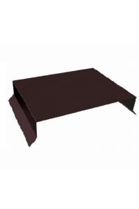 Парапет плоский 550*2000мм коричневый