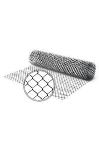 Сетка рабица 1.5*10м (ячейка 50*50*3 мм) стальная оцинкованная