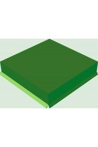 Шапка для заборного столба плоская 380*380мм зеленая