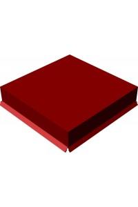 Шапка для заборного столба плоская 380*380мм красная окись