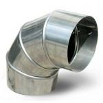 Отвод для дымохода 90 градусов D110 нержавеющая сталь